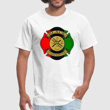 Black Firefighter Maltese Cross - Men's T-Shirt