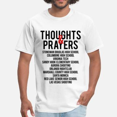 Living On A Prayer Thoughts and Prayers - Men's T-Shirt
