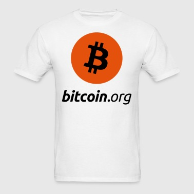Bitcoin Small Logo - Men's T-Shirt