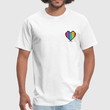 Love Is Love Lgbt Rainbow Heart - Men's T-Shirt