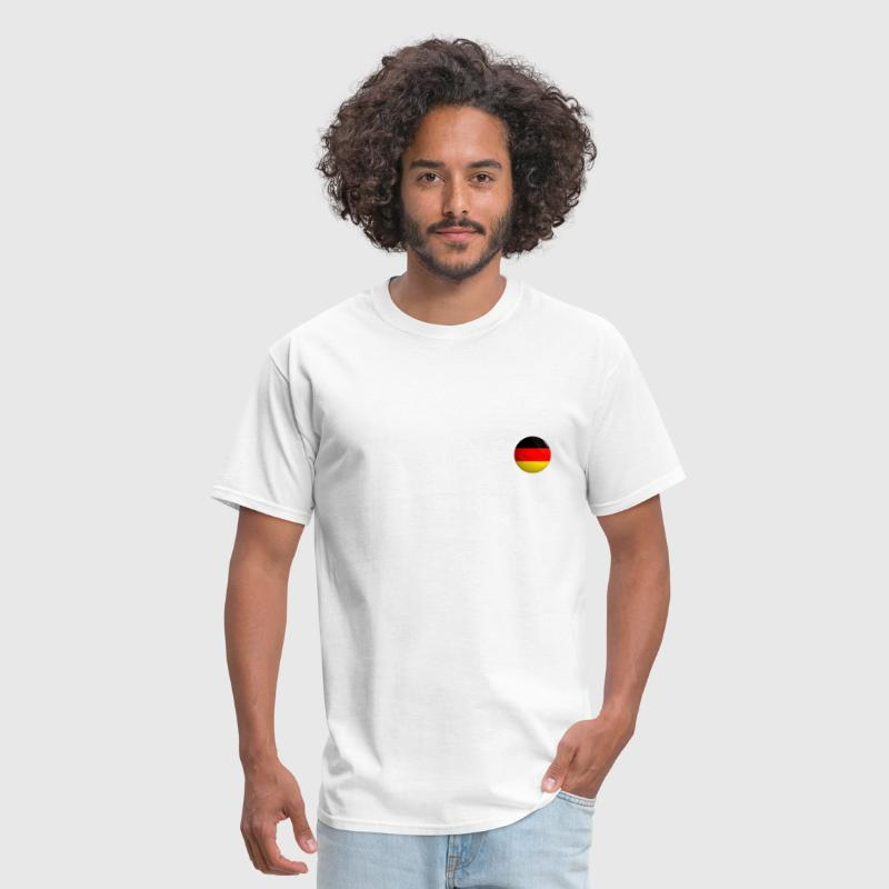 Germany Flag Button round - Men's T-Shirt