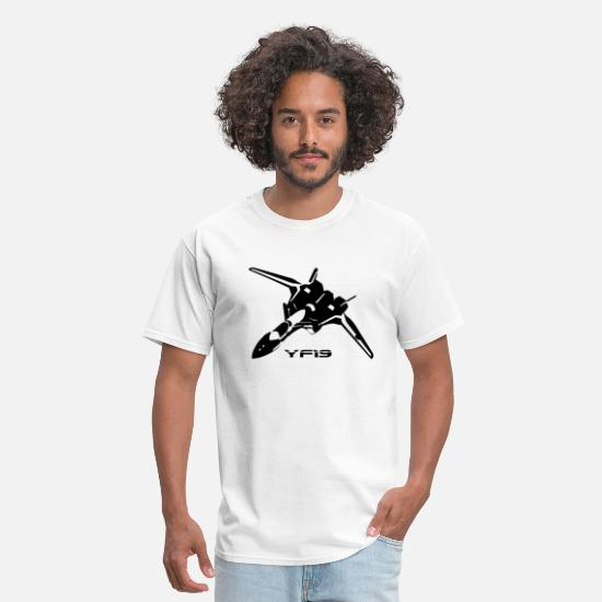 Macross T-Shirts - Macross YF19 Black - Men's T-Shirt white