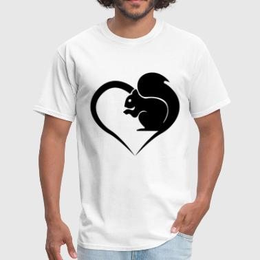 Heart Squirrel girlfriend t shirts - Men's T-Shirt