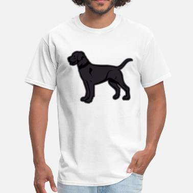 Custom Dog Breed Dogs - Black Labrador Breed Or Black Lab - Men's T-Shirt