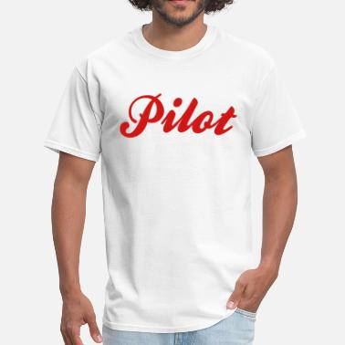 Cool Pilot pilot cool curved logo - Men's T-Shirt