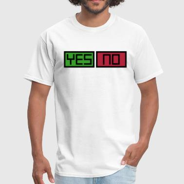 No Means Yes Yes and No Buttons - Men's T-Shirt