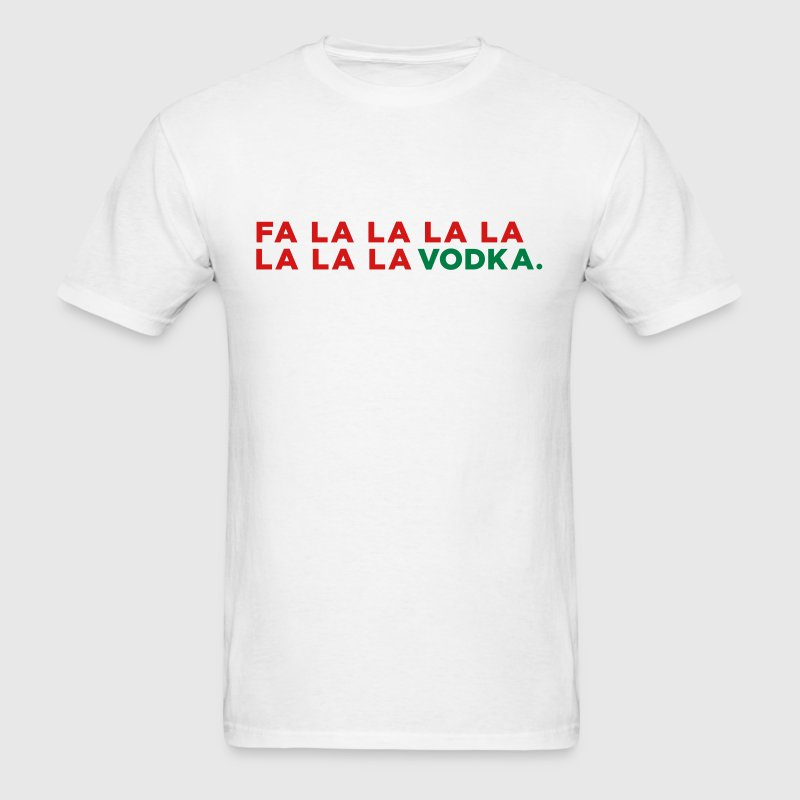 Vodka Funny Christmas - Men's T-Shirt