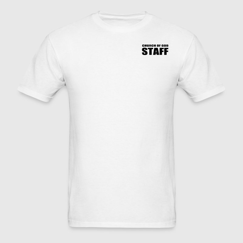 Jesus church of god staff design - Men's T-Shirt