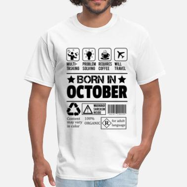 Legends Are Born In October Birthday Born In October - Men's T-Shirt