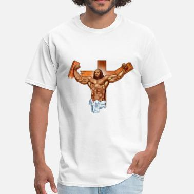 Reps Come at me bro jesus - Men's T-Shirt