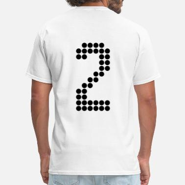 Back Number Footballers 2, Numbers, Football Numbers, Jersey Numbers - Men's T-Shirt