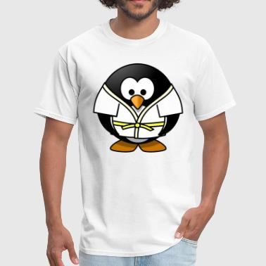 MMA Fighter Judo BJJ Aikido Penguin - Men's T-Shirt