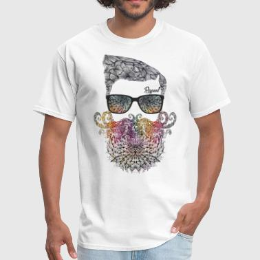 Beard Art Floral beard - Papeel Arts - Men's T-Shirt