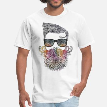 Rey Floral beard - Papeel Arts - Men's T-Shirt
