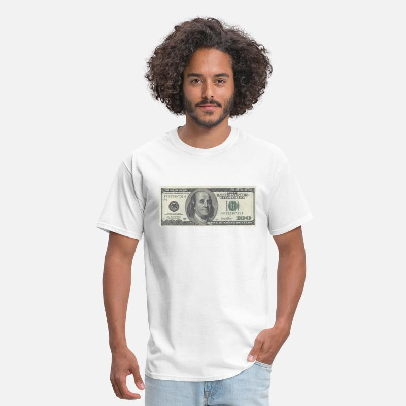 Dollar T-Shirts - One Hundred Dollars Bill - Men's T-Shirt white