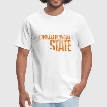 Oklahoma State Shape -Org - Men's T-Shirt