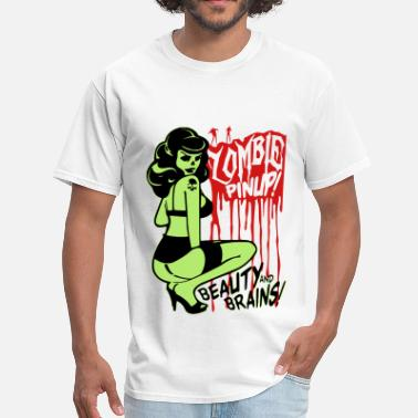 Zombie Pinup Zombie Pin Up - Men's T-Shirt