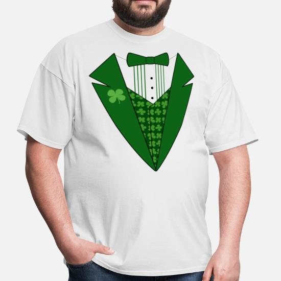 7c59f2a54 Leprechaun Tuxedo Green St Patricks Day Men's T-Shirt | Spreadshirt