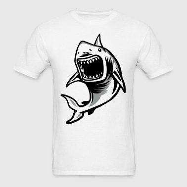 Angry Great White Shark Mouth - Men's T-Shirt
