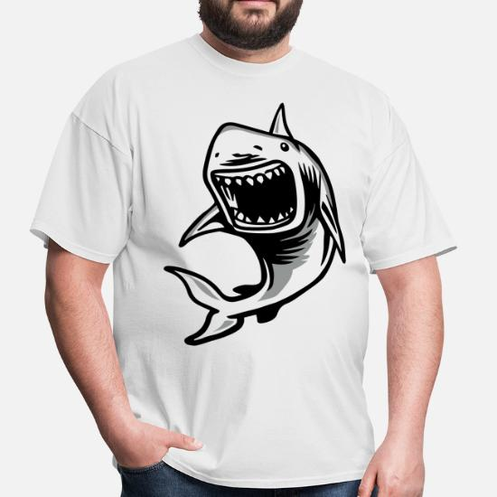 ef9dc631 Angry Great White Shark Mouth Men's T-Shirt | Spreadshirt