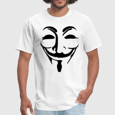 Anonymous Mask Black Vector - Men's T-Shirt