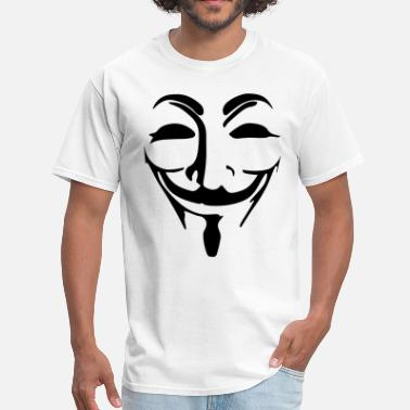 Anonymous Mask Anonymous Mask Black Vector - Men's T-Shirt