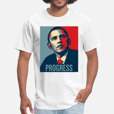 Progress Barrack Obama Progress - Men's T-Shirt