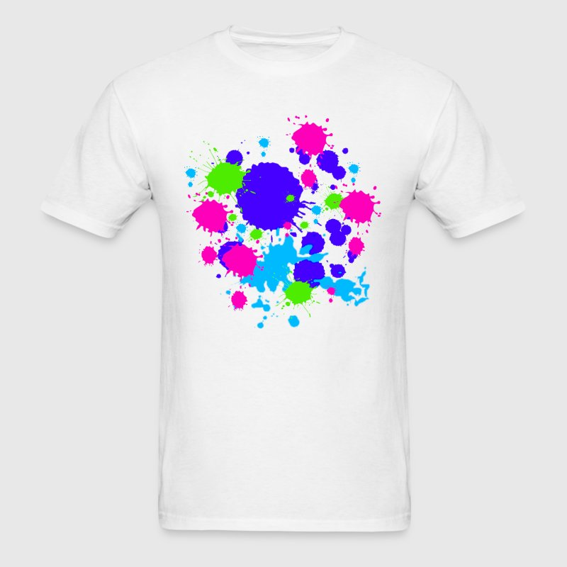Spray Paint Splatter Multi Color Graffiti Graphic  - Men's T-Shirt