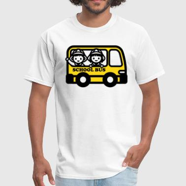 Kids School Bus Drawing - Men's T-Shirt