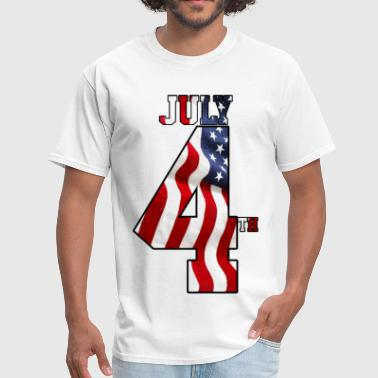 JULY 4 USA INDEPENDENCE - Men's T-Shirt