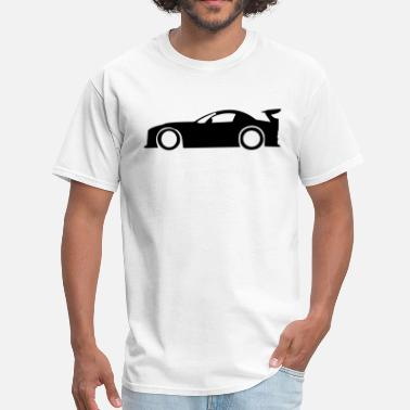 Car Silhouette Race Car Silhouette - Men's T-Shirt
