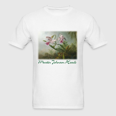 martin_j_heade__orchid_and_hummingbirds - Men's T-Shirt