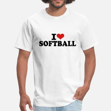 I Love Softball I love Softball - Men's T-Shirt