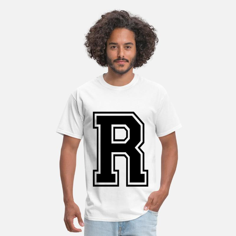 Alphabet T-Shirts - Letter R - Men's T-Shirt white