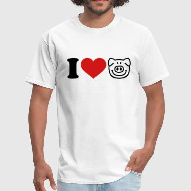 I Love Pigs Pig - Men's T-Shirt