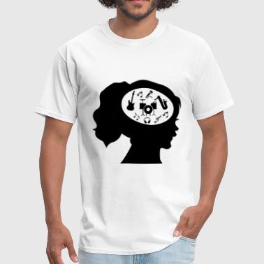Only Music On My Mind - Men's T-Shirt