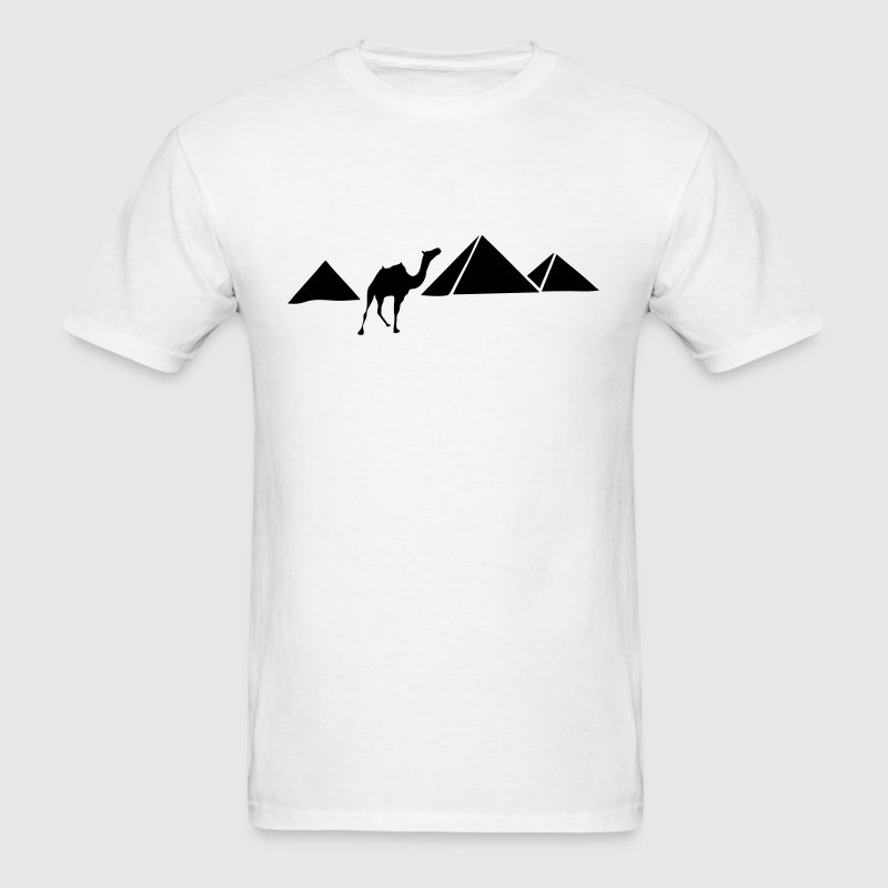 Pyramids of Giza, Egypt (Camel) Silhouette - Men's T-Shirt