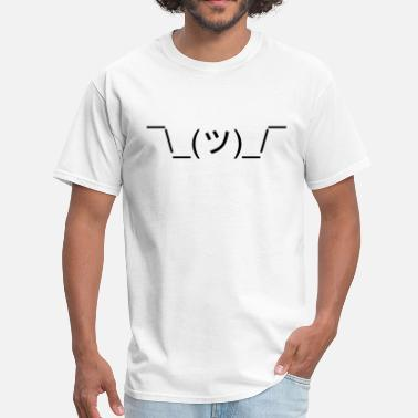 Shrug *Shrugs* (Shrug Emoticon Meme Face) - Men's T-Shirt