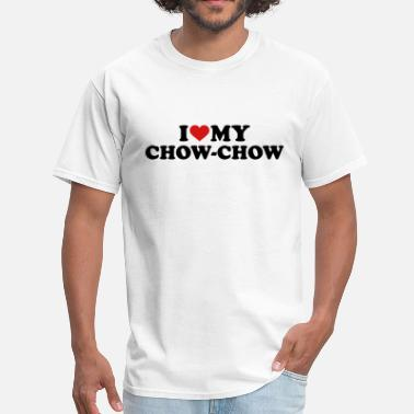 I Love Chow Chow Chow-Chow - Men's T-Shirt
