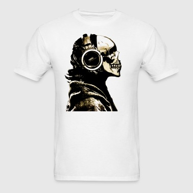 Skull and Headphones - Men's T-Shirt
