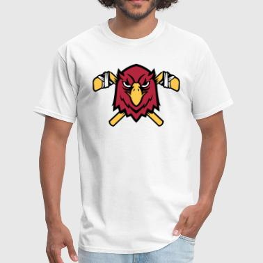 Reds Falcons Hockey Falcon Logo - Men's T-Shirt
