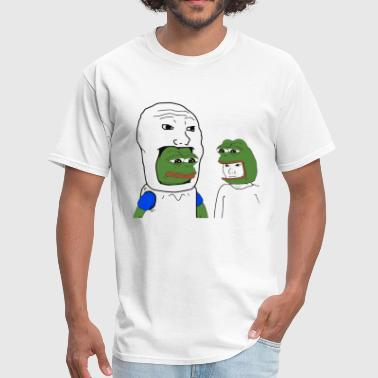 Pepe and Wojak Cosplay - Men's T-Shirt