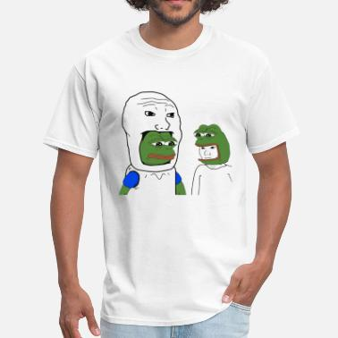 Frog Pepe and Wojak Cosplay - Men's T-Shirt