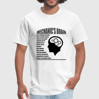 Funny Mechanic Mechanic's Brain - Men's T-Shirt
