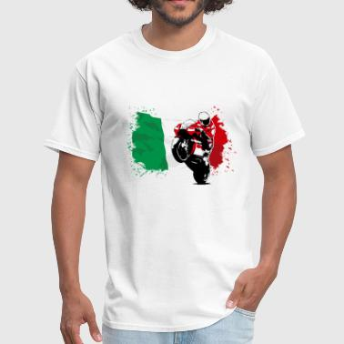 MotoGP - Superbike - Italy Flag - Men's T-Shirt