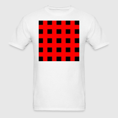 Red Squares - Men's T-Shirt