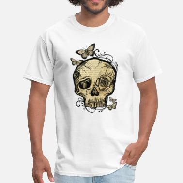 Skull-bone-yellow Skull Bones Butterfly Vintage Vintagecontest - Men's T-Shirt