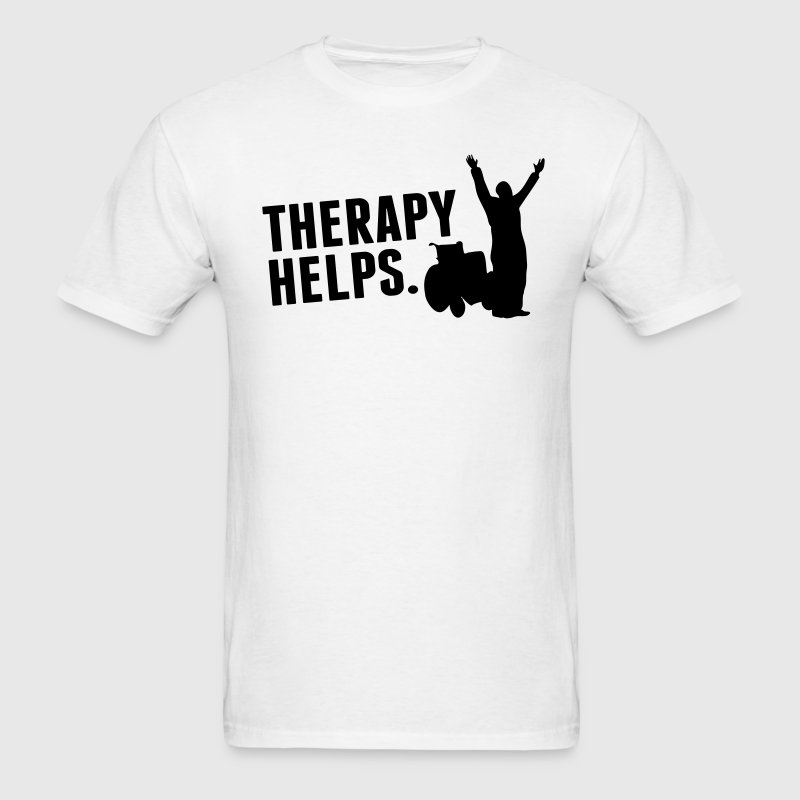 Therapy helps - Men's T-Shirt
