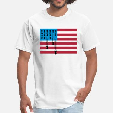 American Bombs USA Flag Bombs - Men's T-Shirt