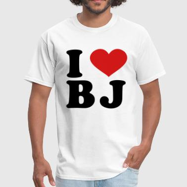 I Love BJ - Men's T-Shirt